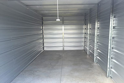 Inside of a modern self-storage unit at Randolph Storage